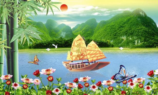 森林小鸟河流天空童话作文保护