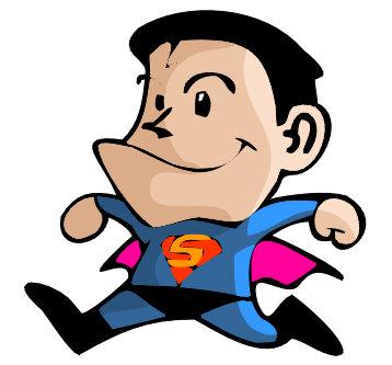 插图 插画 人物 超人