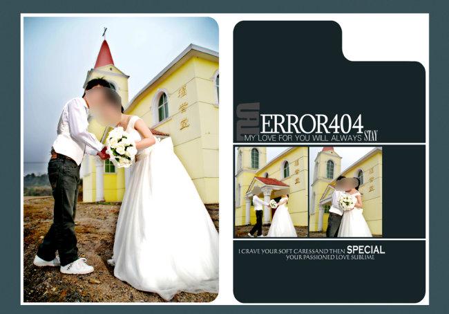 婚纱相册模板psd素材免费下载-千图网www.58pic.com