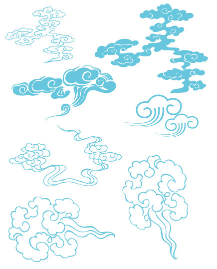祥云图- 平面设计_设计作品_设计素材_设计教; [ai]古典云纹5; 复古