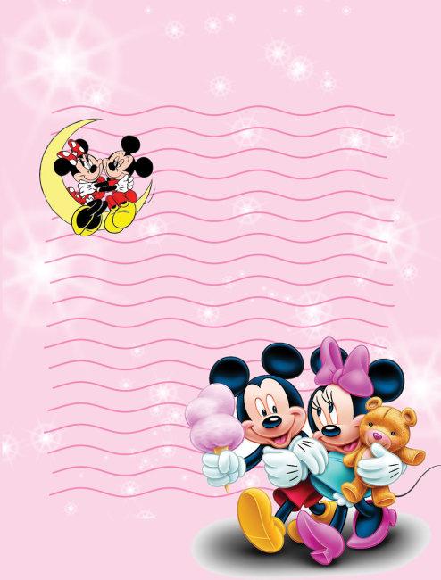 卡通人物棉花糖简笔画图片-米老鼠手绘线条图片图片