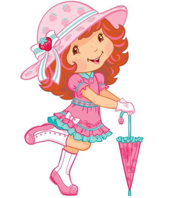 草莓公主 草莓 草莓妹 草莓娃 韩国卡通 卡通形象 经典卡通 裙子 花裙