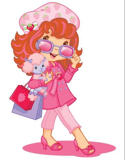 戴眼镜小女孩卡通