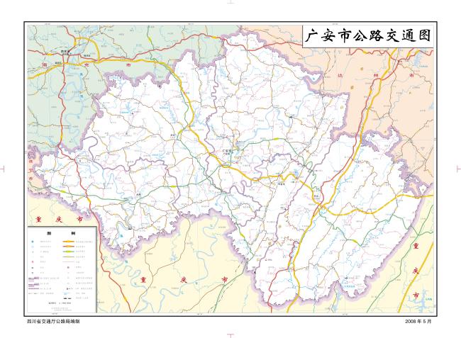 广安市交通地图图片
