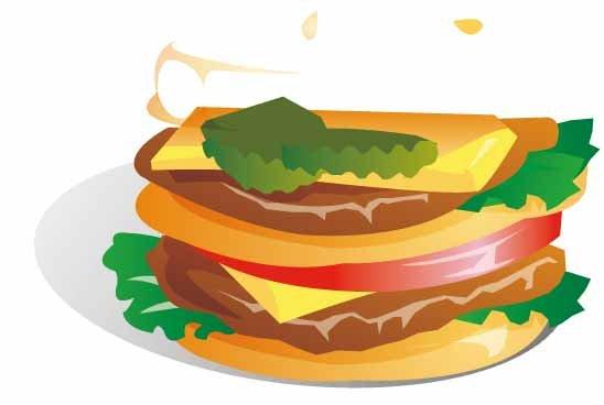 插画 汉宝 奶酪 食品图片