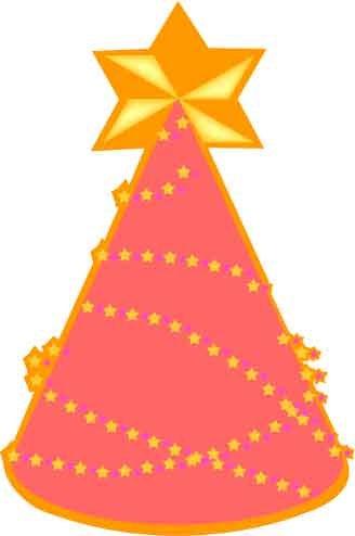 插画 圣诞树 金字塔形状