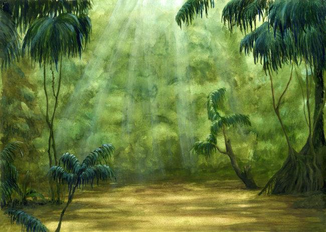 手绘森林场景