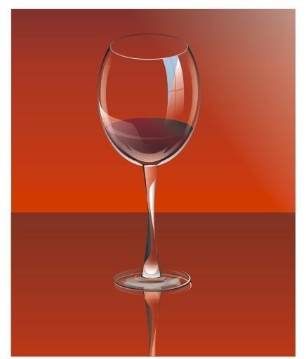 酒杯矢量图