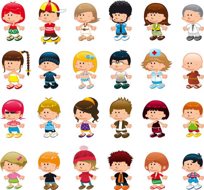 卡通人物免费下载 数款可爱卡通人物矢量素材