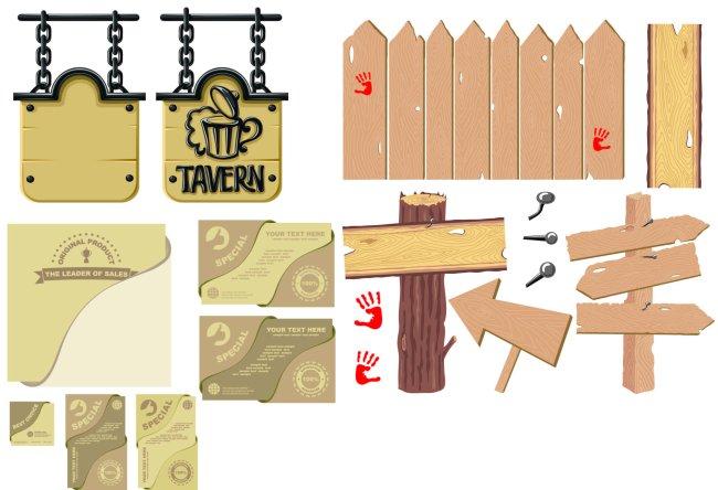 木板 木纹 钉子 公告板 告示牌