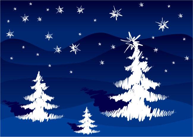 圣诞树 圣诞背景 圣诞节