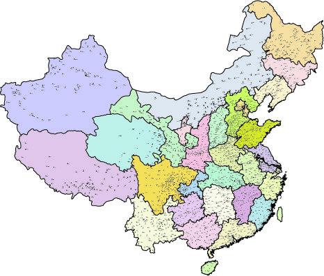 世界地图,中国地图,矢量