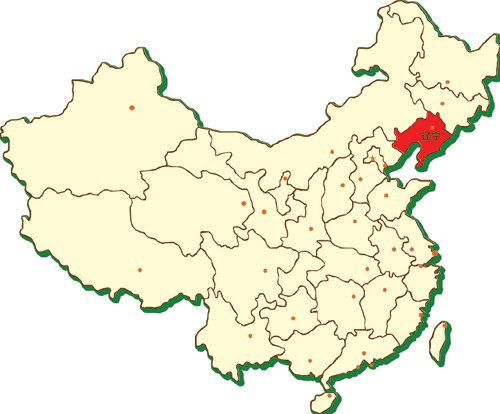 辽宁在中国地图