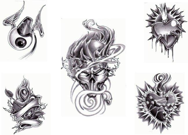 纹身简单手绘画