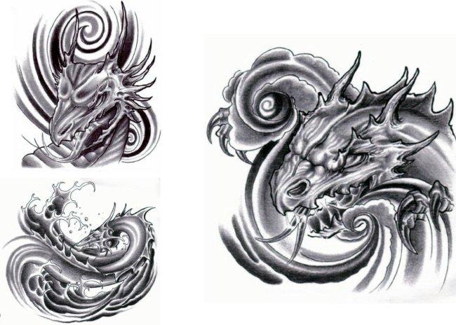 纹身图案龙