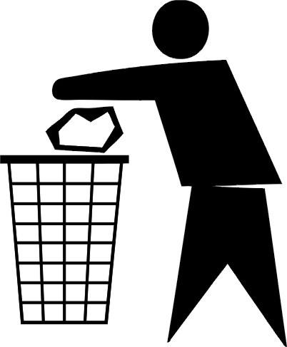 垃圾桶标识矢量图免费下载-千图网www.58pic.com图片