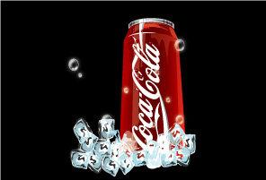 可口可乐罐矢量图图片