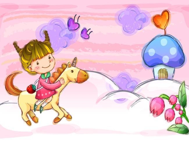 卡通 卡通人物 卡通色图 卡通背景 卡通儿童 手绘 手绘人物 手绘海报