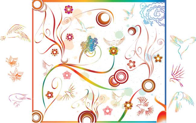 封面背景 画册元素 时尚 设计元素 海报 夏日 夏天 夏季 底图 pop