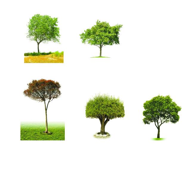 树木素材psd图片(分层)psd素材免费下载-千图网www.58