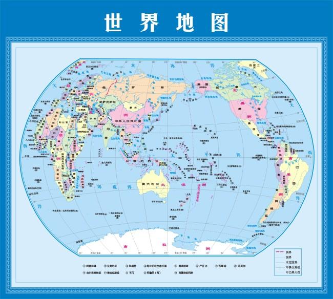 世界地图 矢量 cdr