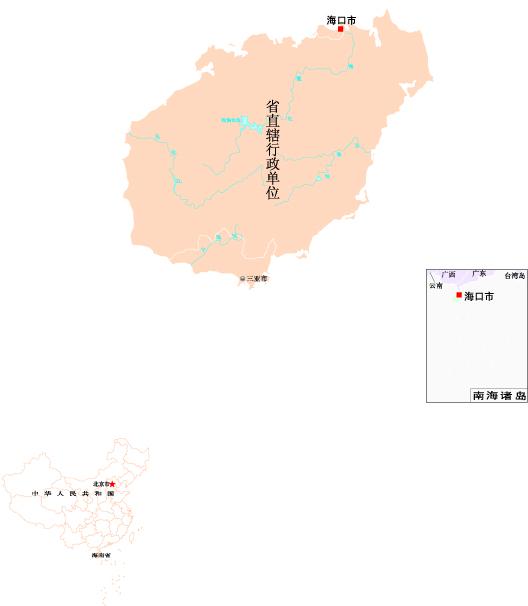 海南地图矢量图免费下载-千图网www.58pic.com