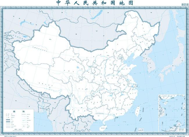 1:400万的中国地图(政区图)