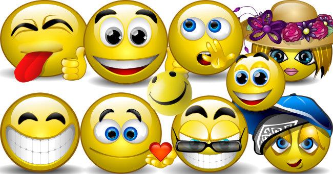 卡通笑脸,各种表情,头像