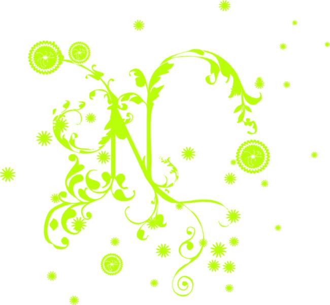 绿色藤蔓花朵