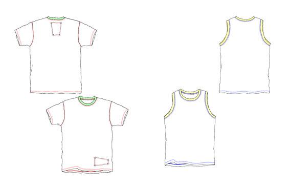 t恤模板 设计用      花纹