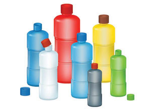 塑料瓶子矢量图图片