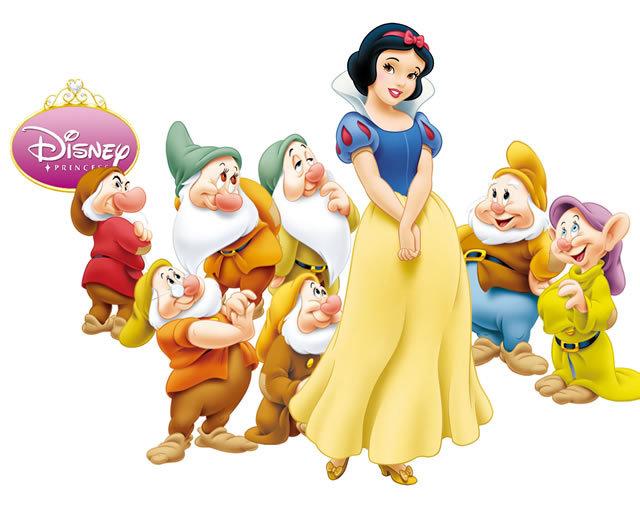 白雪公主七个小矮人独立分层psd素材免费下载
