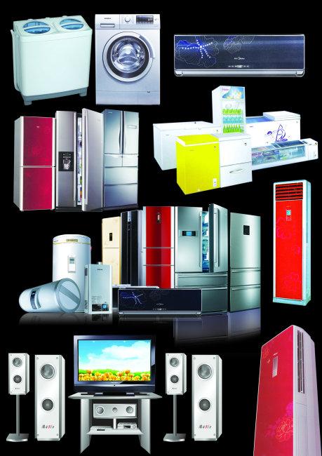 多种家用电器集合
