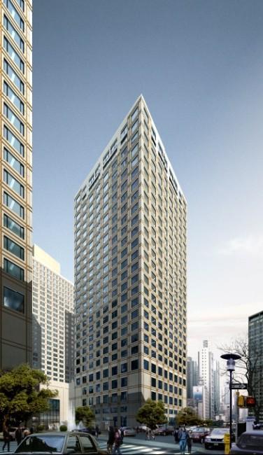 景观建筑效果图-办公楼