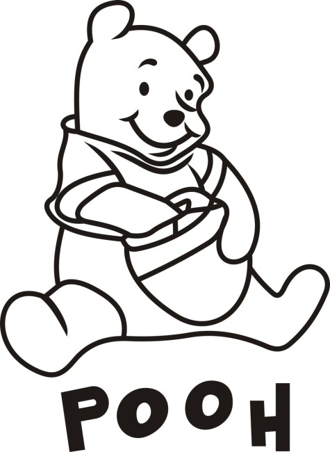 小熊手绘简笔画