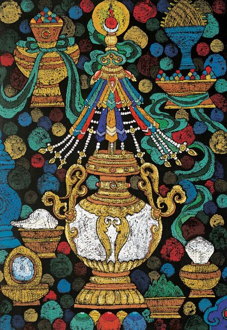 手绘藏族图片大全