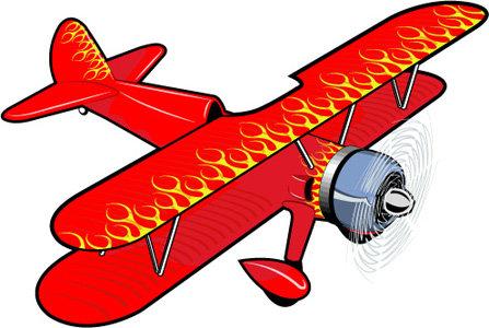 矢量卡通飞机矢量图免费下载-千图网www.58pic.com
