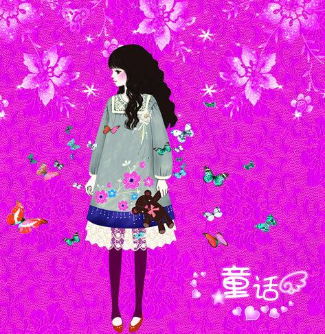 韩国卡通少女 卡通女孩 童话