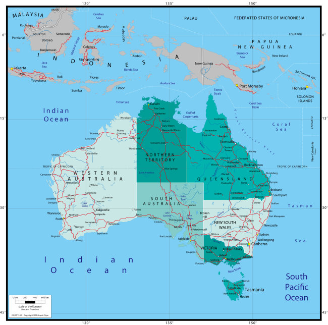澳大利亚高清地图