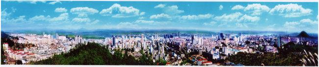 丹东市全景图