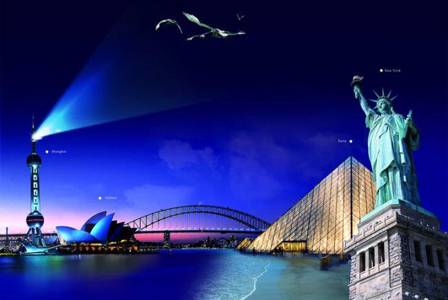 世界地标简笔画,世界地标建筑,世界各地地标建筑 ...