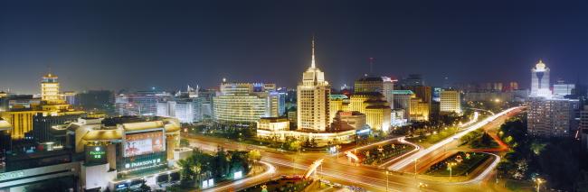 北京城市宽幅夜景