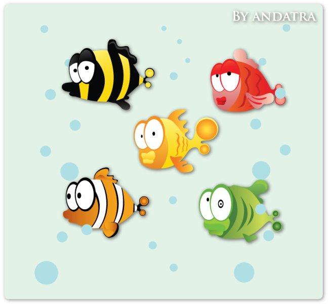 卡通热带鱼免费下载图片