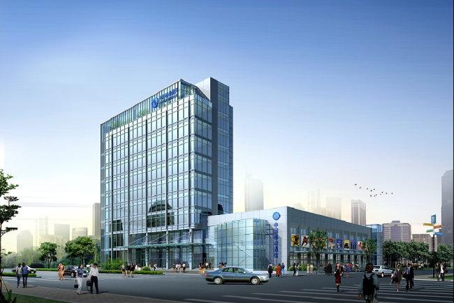 效果图表现 写字楼 公共建筑 公建 玻璃建筑 办公楼 办公建筑 效果图