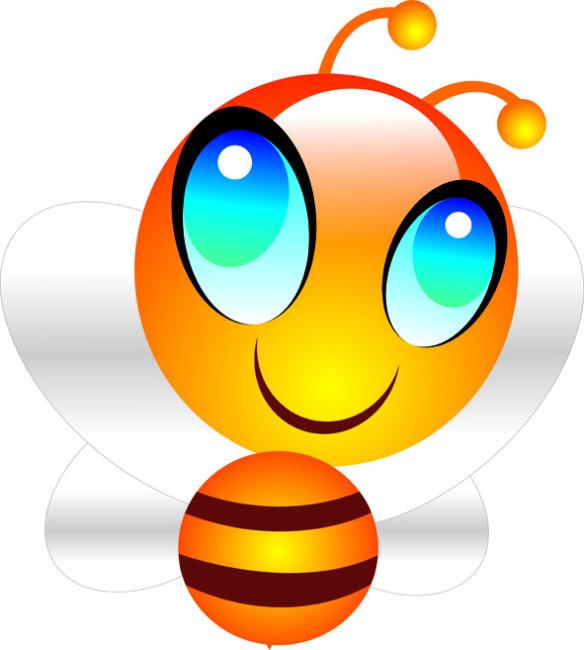 可爱卡通小蜜蜂