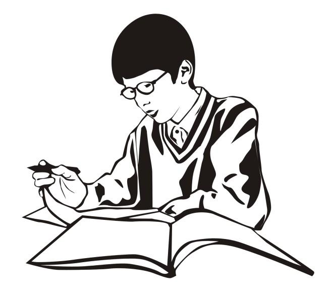 小朋友 学习 做练习 人物 写作业