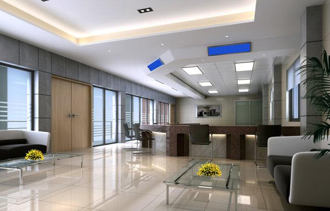 接待区 大厅 办公空间 装修图