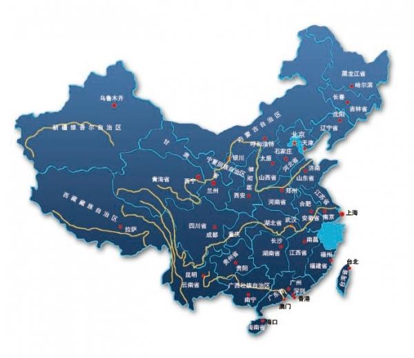 中国地图ps版