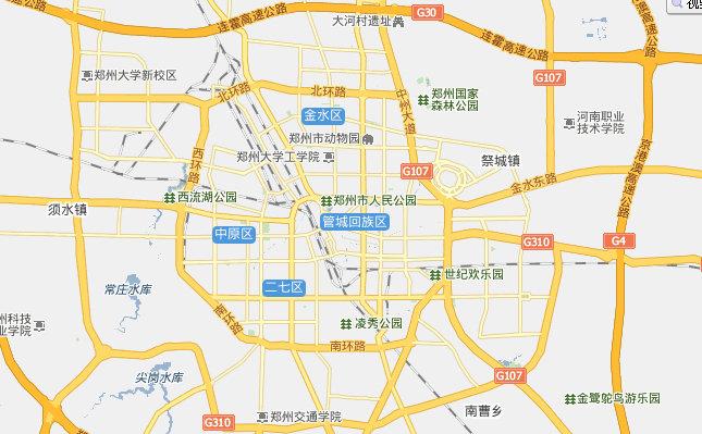 郑州市区地图