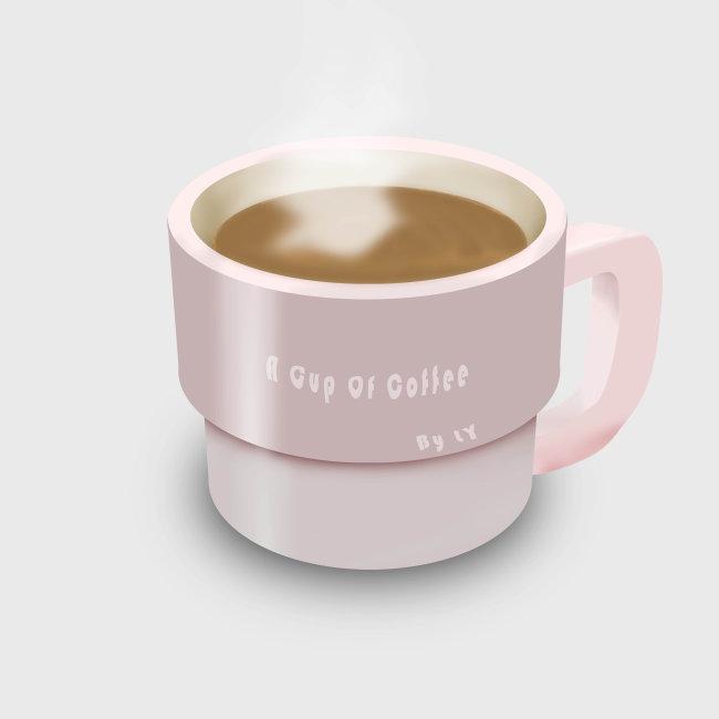 手画咖啡杯